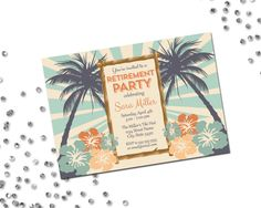 Luau Retirement Party Invitation