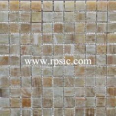 Honey Onyx Mosaic 1x1 Polished MSP-231