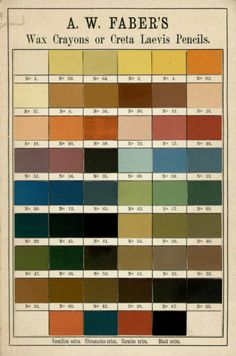 Faber wax crayon color chart