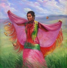 The Sweetgrass Princess print by PaintedMoonGallery on Etsy, $18.00
