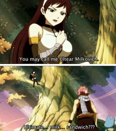Natsu from fairy tail is comedy gold and he doesn't even know it!