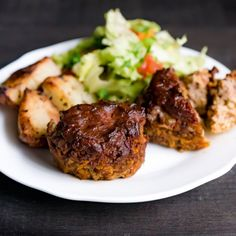 Delicious no-chop mini meatloaf made in single portions to cook quickly, be kid-friendly, and make healthy eating simple.