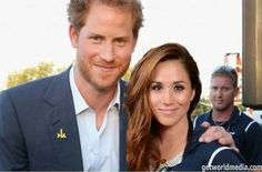 PHOTOSHOPPED!!!! Original picture was taken of Harry and Elizabeth Marks, the U.S. swimmer, whose gold medal Harry gave back to the hospital that saved her life. See http://worldroyalfamily.blogspot.com/2016/05/prince-harry-attends-invictus-games.html