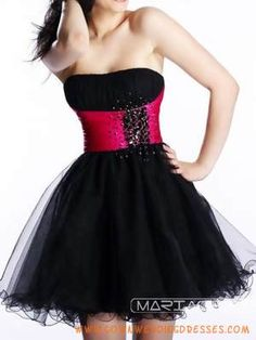 Hot Pink And Black Dresses - Black And Hot Pink Prom Dresses ...