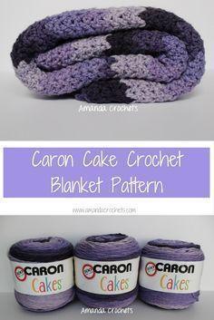 crochet afghans patterns Caron Cake Crochet Blanket Pattern - Today I'm sharing my first free crochet blanket pattern featuring Caron Cake yarn. This is a self-striping yarn that has been increasingly popular. Crochet Afghans, Caron Cake Crochet Patterns, Caron Cakes Crochet, Crochet Cake, Baby Blanket Crochet, Crochet Blankets, Baby Blankets, Baby Afghans, Crochet Stitches