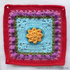 "Look At What I Made: Princess Square (12"") Photo tutorial. Block a Week CAL 2014 - Bonus Block 3. Free crochet pattern by Melinda Miller. On Ravelry here: http://www.ravelry.com/patterns/library/princess---12-square"