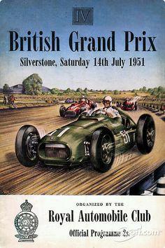 Poster for the 1951 British Grand Prix.