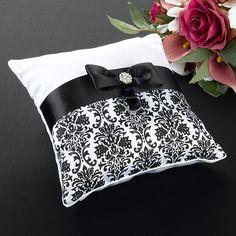 Lillian Rose Brown Sash Ring Pillow