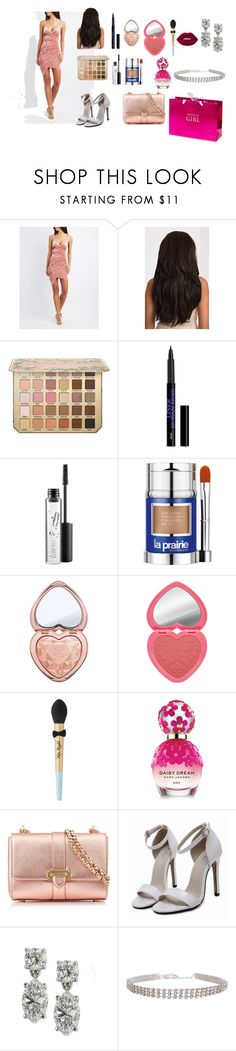 """""""going to jessica's party"""" by princesspanty ❤ liked on Polyvore featuring Charlotte Russe, MAC Cosmetics, La Prairie, Marc Jacobs, Aspinal of London, Humble Chic and Lime Crime"""
