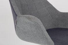 Lounge Sessel Doulton Grey von Zuiver Detail Armlehne Bild 6