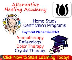 study holistic healing reflexology aromatherapy and color crystal therapy from home