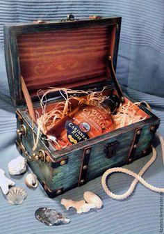 "Wooden box   Купить Шкатулка для сокровищ ""Сундук пирата"" винтаж - сундучок, сундук деревянный, сундук под старину"
