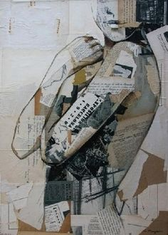 love mixed media art....decay in human form?