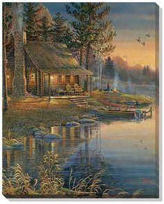 HOME BEAUTY diy diamond embroidery coss-stitch kits diamond mosaic painting paint pictures sunshine lake tree decor Pictures To Paint, Nature Pictures, Beautiful Pictures, Arte Country, Image Nature, Thomas Kinkade, Peaceful Places, Cross Paintings, Bob Ross