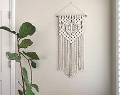 Macrame Patterns/Macrame Pattern/ Macrame Wall Hanging Pattern/Wall Hanging/Modern Macrame/Pattern/DIY/Name: Center Diamond