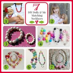 DIY Matching Dolly & Me Necklaces. Visit www.fizzypops.com for great supplies and easy to follow tutorials.