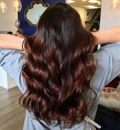 Shiny Tawny Brown Balayage Hair - Best HairStyles For All Brown Hair Shades, Brown Ombre Hair, Brown Hair Balayage, Brown Hair With Highlights, Ombre Hair Color, Brown Hair Colors, Baliage Hair, Bronde Hair, Long Brown Hair