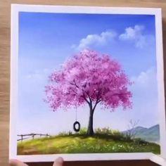 Canvas Painting Tutorials, Diy Canvas Art, Acrylic Painting Canvas, Painting Tools, Acrylic Art, Acrylic Painting Lessons, Canvas Paintings, Easy Paintings, Beautiful Paintings