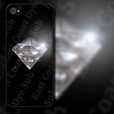 Superman Chrome Look Design on iPhone 4 / 4s / 5 / 5s / 5c / 6 Rubber Silicone Case by EastCoastDyeSub on Etsy https://www.etsy.com/listing/152556916/superman-chrome-look-design-on-iphone-4