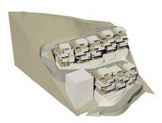 GREEN 360, architectural model, maqueta, modulo