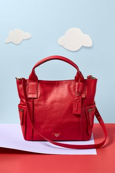 The Emerson Satchel has a new bright hue to ring in the Holidays this season.