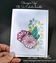 StampinUp! Oh So Eclectic bundle, stamp set, framelits, designer series paper, floral, flowers, ribbon