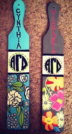 would love to make these vera bradley inspired paddles for the walls! for KKG