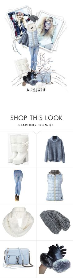 """""""Winter"""" by kari-c ❤ liked on Polyvore featuring iEva, FAY, UGG Australia, Phase 3, Rebecca Minkoff and blizzard"""