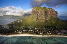 Le Morne Brabant Mountain (UNESCO World Heritage Site), Island of Mauritius, Republic of Mauritius (20°27' S, 57°19' E).