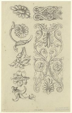[Acanthus and other floral designs.]