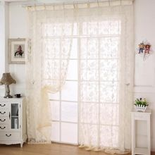 2015 Plant vines Tulle Window Screens Door Balcony Curtain Panel Sheer Scarf Curtain for living room bedroom Size x 100 cm(China (Mainland))