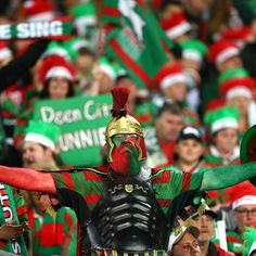 South Sydney fans show their support during the preliminary final against Sydney Roosters Fox Sports, Sports News, Rugby League, Great Team, Pro Cycling, World Of Sports, One Team, Finals, Sydney