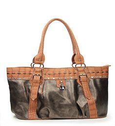 Bronze Rhinestone Fashion Large Handbag - Handbags, Bling & More!