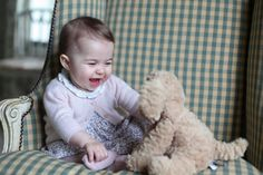 Pin for Later: Get a Glimpse at Will and Kate's Royal Life With These 32 Personal Photos  Princess Charlotte's offical portraits were not only stunning, but adorable.