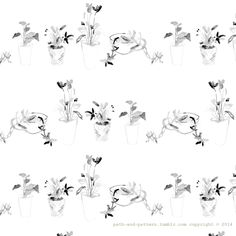 plant wash drawing pattern
