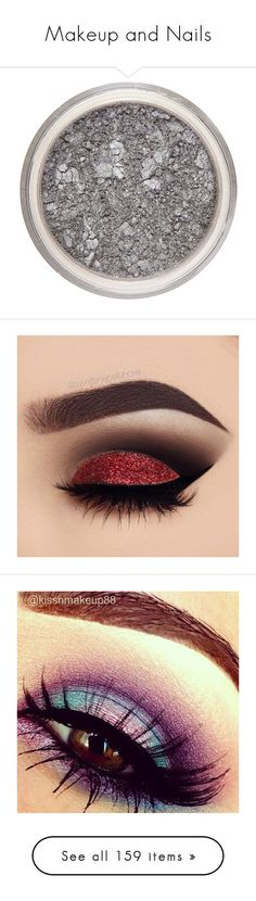 """Makeup and Nails"" by wintersoldier1945 ❤ liked on Polyvore featuring beauty products, makeup, eye makeup, eyeshadow, beauty, eyes, filler, mineral make up, silver and womens-fashion"