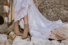 winter bride in ankle boots