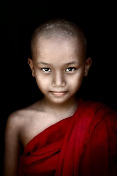 Mingun Monk, Burma (people, portrait, beautiful, photo, picture, amazing, photography, young, boy, kid, child)