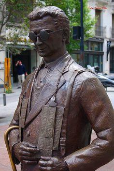 Vendedor de Cupones de la ONCE. Calle San Agustín. Madrid