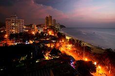 Santa Marta, Colombia, the Caribbean sea seen from the 10th floor balcony of Hotel La Sierra