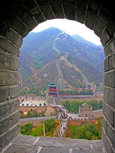 The Great Wall of China. Walking the Great Wall was not fun at all. But the scenery was amazing!