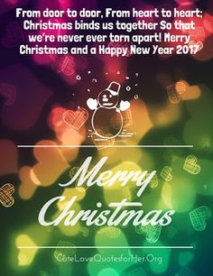 Merry Christmas And Happy New Year 2017 Wishes Quotes