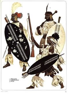 Zulu Dress African Culture, African History, African Art, Black History Books, Art History, Military Art, Military History, African Warrior Tattoos, Zulu Warrior