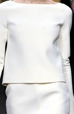 Minimal Fashion - white tailored two-piece with clean lines & soft structured silhouette; elegance in simplicity // No. 21 FW11