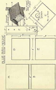 Some cut little birdhouse plans. I am pretty sure that if you print these you could just add a few tabs when you are cutting these out and have yourself some little paper birdhouses. Or you could…