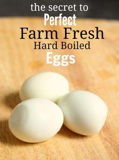 how to peel farm fresh hard boiled eggs