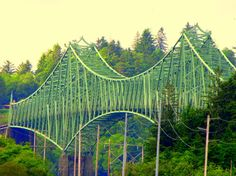 McCullough Memorial Bridge, Coos Bay, Oregon Coast.  My grandfather helped build it.