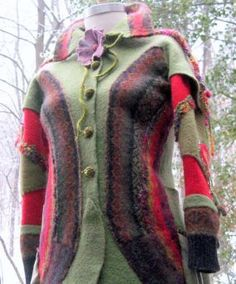 Recycled patchwork SWEATER COAT by Amberstudios.Etsy.com - CraftStylish