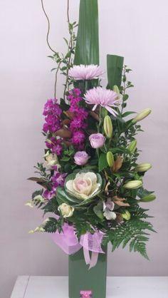 Tall ceramic arrangement