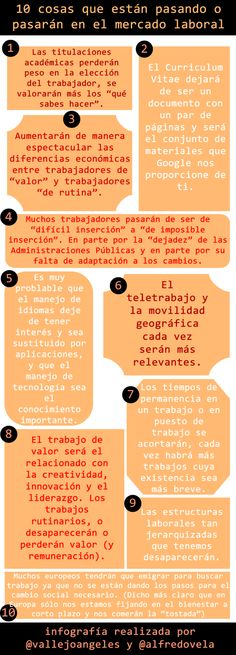 10 cosas que están pasando o pasarán en el mercado laboral vía @Alfredo Vela y @Maria Angeles Vallejo Bernal
